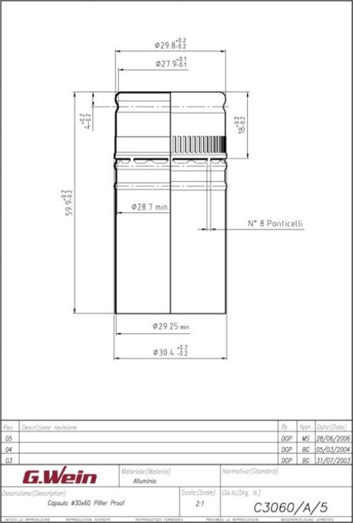 ENOLcap Technische Zeichnung